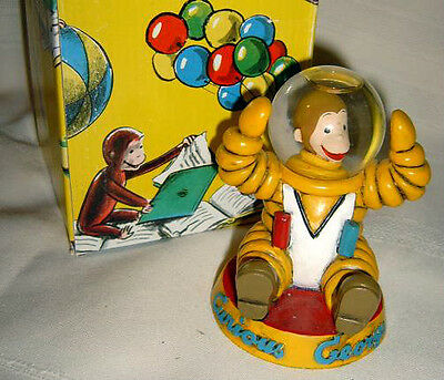 Curious George Astronaut Snowglobe New Boxed Never Displayed