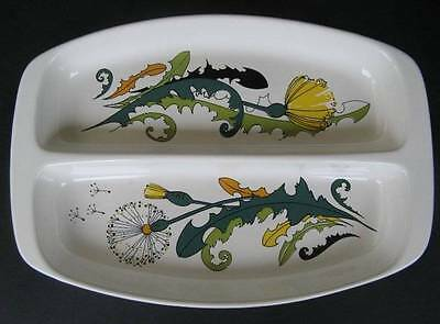 Vintage Villeroy & Boch Divided Plate Retro Dandelion Pattern Made in Luxembourg