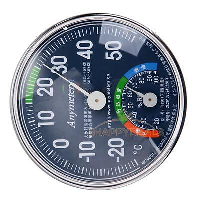 Hygrothermograph Thermometer Hygrometer Humidity Meter Pointer Display Metal New