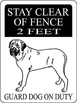 English Mastiff  Aluminum Sign Dogs Warning    3291Em