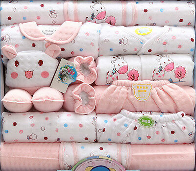 18pcs/Set Winter Clothing 100% Cotton Newborn Baby Clothes Outfits Sets gift bag