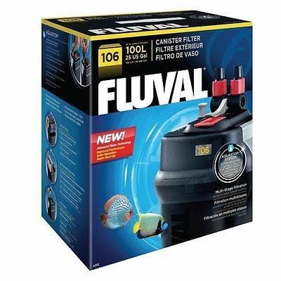 Fluval 106 - External Canister Filter - Aquarium Marine Or Tropical Fish Tank!