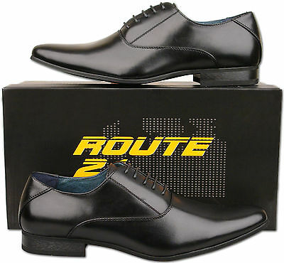 Mens New Black Lace Up Leather Lined Formal Fashion Shoes Size 6 7 8 9 10 11 12