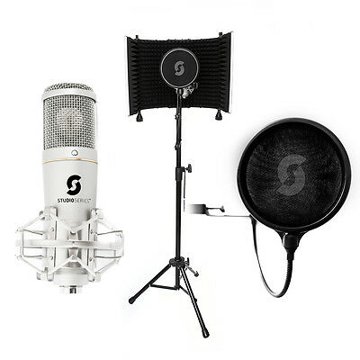 Pro Recording Bundle - SL150 USB Microphone, Vocal Booth Pro, and Pop Filter