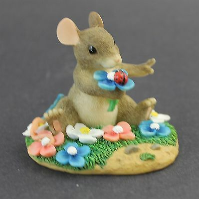 Charming Tails I PICKED YOU TO LOVE Fitz & Floyd Mouse Among Flowers Figurine