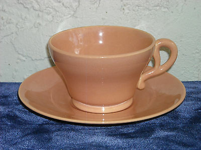 Gladding McBean Franciscan El Patio Cup and Saucer  Coral