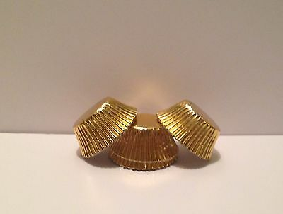 Grease-resistant Gold Foil mini size cupcake liners