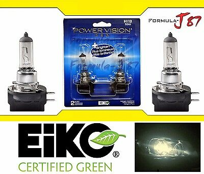 Eiko Pvp2 H11B Two Bulbs 55W Head Light Dot Approved Legal Low Beam Replacement