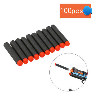 100Pcs 7.2cm Refill Foam Darts For Nerf N-strike Elite Series Blasters Toy Gun