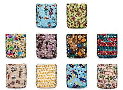 Eco-Friendly! 50 KaWaii Premium One Size Bamboo Cloth Diapers+100 Bamboo Inserts