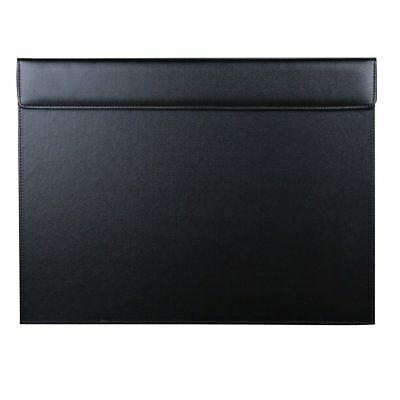 Faux Leather Rectangle A3 Desk Writing & Drawing Board with Paper Clip 46x35cm