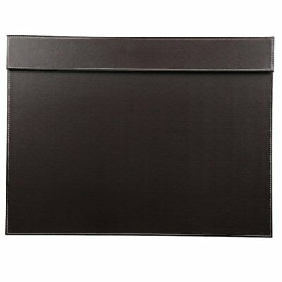 Faux Leather Rectangle Desk Writing/Drawing Board with Paper Clip 60x45cm Tablet