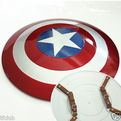 60cm 1:1 Scale Movie Color Marvel's Captain America Shield ABS For Cosplay Props