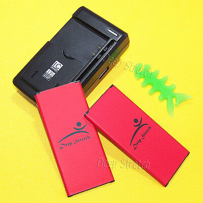 New Extended Slim 2x 5280mAh Battery Charger Winder F Samsung Galaxy Alpha G850T