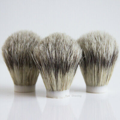 3 Pieces of Boar Bristle Hair Shaving Brush Knot Brush Head Knot Size 22mm