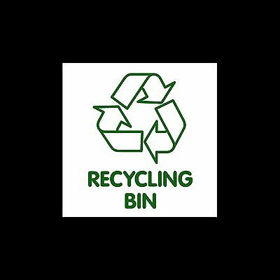 Recycling Bin - External Sticker / Sign - Environment, Recycle, Reuse