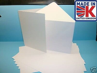 50 x A6 100%  RECYCLED  WHITE BLANK GREETINGS CARDS WITH 100% RECYCLED ENVELOPES