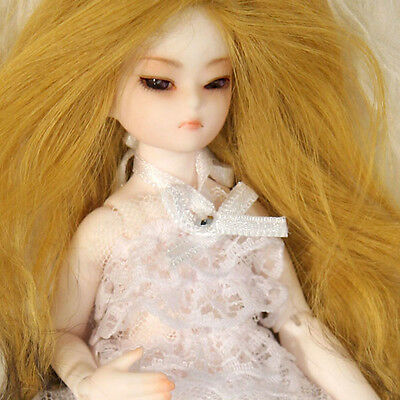 Dollmore 1/12BJD OOAK Supplier Mini Wig Banji size - Long Wool Wig (Gold)