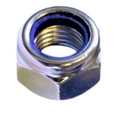 M10 / 10mm NYLOC TYPE NYLON INSERT LOCK NUTS DIN 985 A2 STAINLESS STEEL