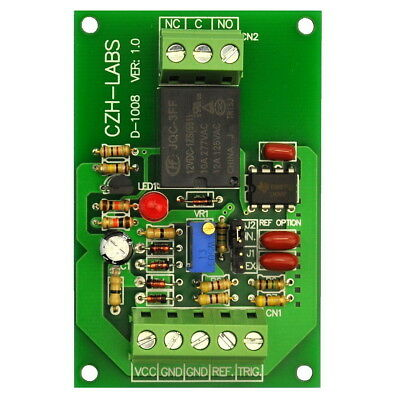 Panel Mount Voltage Comparator Relay Module, DC12V, SPDT 10A Relay.