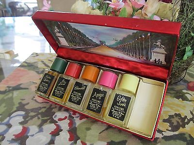 Vintage Boxed Set (incomplete) of 5 Louis D'or  1/2 Qz  Perfumes