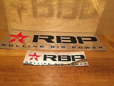 "2 official RBP REFLECTIVE finish decal ROLLING BIG POWER 4"" X 12"" & 1"" X 6"""