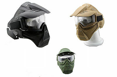 Airsoft Full Face Mask Protect Safety Mask Goggles Paintball Bb Mask
