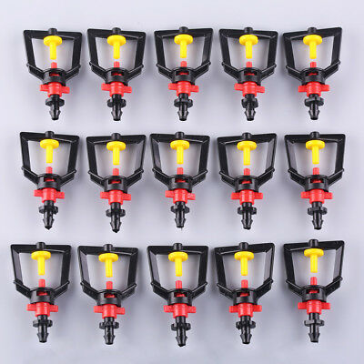 "20pcs 1/4"" Plastic Rotating Water Sprinkler Micro Nozzle for Lawn Garden Courtya"
