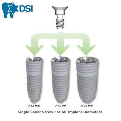3X Dental Implant Cover Screw fits most sizes