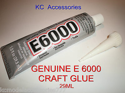 E6000 GLUE 29ML Industrial Strength GENUINE Jewellery Crafts Rhinestones Crystal