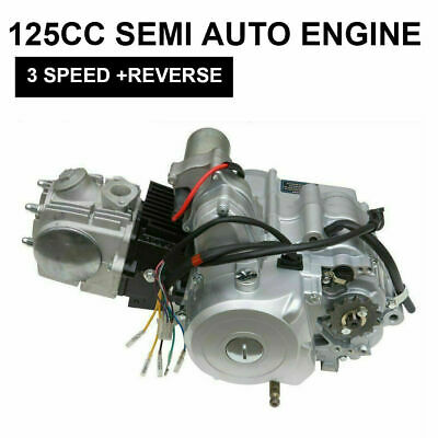 4 stroke 125CC 3+1 SEMI AUTO 3 Speed ENGINE MOTOR W/ REVERSE ATV QUAD GO KART TD