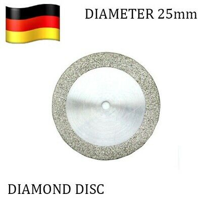 Set of 3 Diamond Rim Discs 25mm + Mandrel  Flexible Dental Disk Double Sided