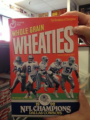 Dallas Cowboys Wheaties Cereal Box - 1992 NFL Champions