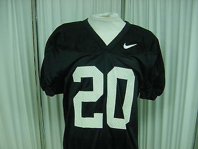 Authentic Black Nike Game/Practice Football Jersey Size- M #20 Jock Tagging