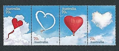 AUSTRALIA  2015   LOVE IS IN THE AIR   STRIP of 4   MNH