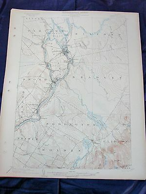 Antique USGS Map 1902 Maine: Orono, Holden, Bradley, Oldtown, Milford, Clifton