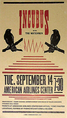 Incubus The Watchmen Am Airlines Ctr 2004 Hatch Show Print