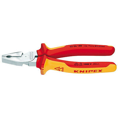 Knipex 180mm High Leverage Combination Pliers 1000V VDE Insulated 02 06 180