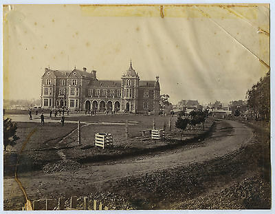 C1877 Albumen Photo Prince Alfred College With South Wing Sweet Photo X18