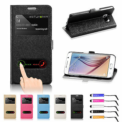 New Flip Wallet Leather Case Cover Stand For SAMSUNG Galaxy S6 & S6 Edge