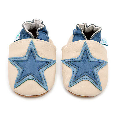 Dotty Fish Soft Leather Baby & Toddler Shoes - Cream Star - 0-6Months - 3-4Yrs