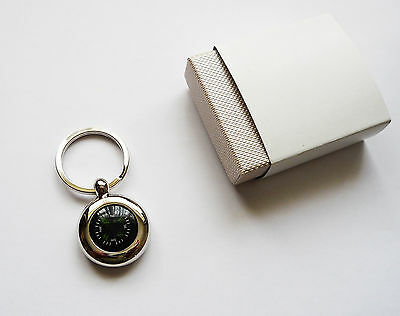 Metal Compass Key Ring