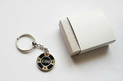 Metal Poker Chip Key Ring