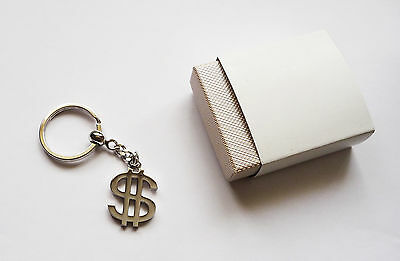 Metal Dollar Symbol Key Ring