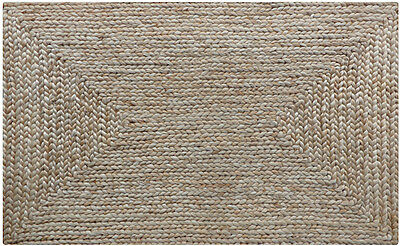 RUG Jute Braided Natural Rectangle Rug Large Size 240cm x 160cm Stunning QUALITY