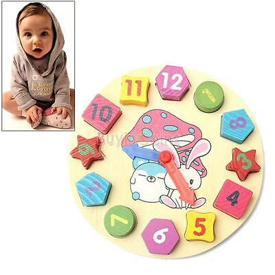 Cute Promotion Wooden 12 Number Puzzle Toy Baby Educational Bricks Toy US YU