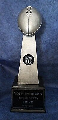 "Fantasy Football Trophy Lombardi Style 20/"" Tall 24 Year Perpetual FREE Engraving"
