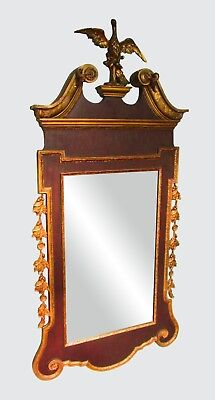 Freidman Brothers Chippendale Antique Style Constitution Mirror ~~ Carved Eagle
