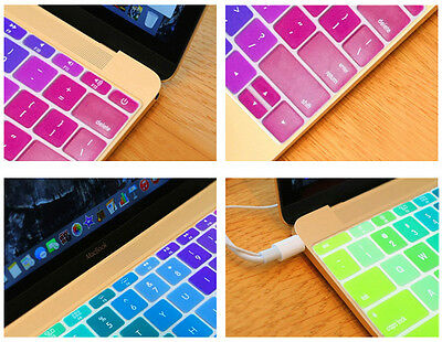 """Rainbow Silicone US layout Keyboard Skin Cover Film For Macbook Pro Air13""""15""""17"""""""