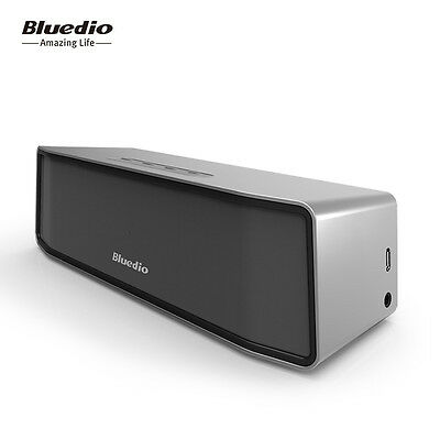 NEW BLUEDIO BS-2 Bluetooth 4.1 Wireless Subwoofer HiFi Speaker 3D Stereo(Silver)